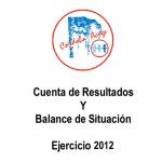 CUENTA DE RESULTADOS Y BALANCE DE SITUACION 2012 PORTADA